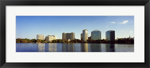 Framed Lake Eola, Orlando, Florida (distant view) Print