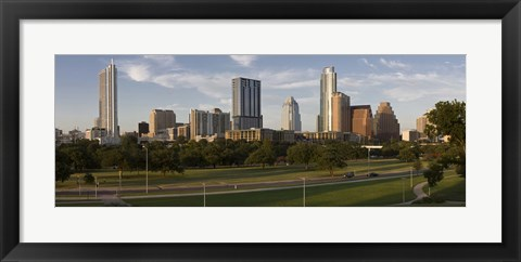 Framed Buildings in a city, Austin, Texas Print