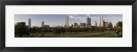 Framed Austin skyline, Travis County, Texas Print