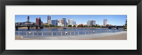 Framed Buildings at the waterfront, Vista Point, Portland, Multnomah County, Oregon, USA 2010 Print