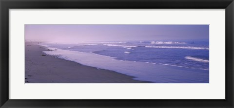 Framed Surf on the beach, Santa Monica, Los Angeles County, California, USA Print
