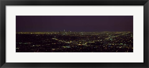 Framed High angle view of a cityscape, Los Angeles, California, USA Print