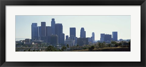 Framed Skyscrapers in a city, Los Angeles, California, USA 2009 Print