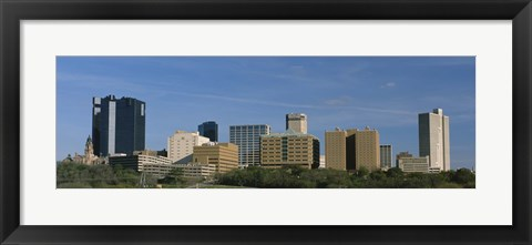 Framed Buildings in Fort Worth, Texas Print