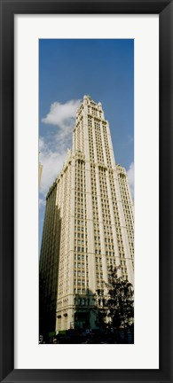 Framed Low angle view of a building, Woolworth Building, Manhattan, New York City, New York State, USA Print