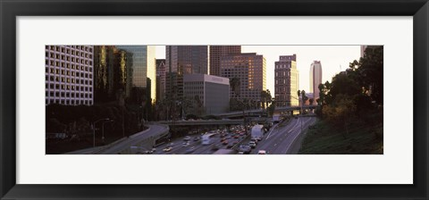 Framed City of Los Angeles, California Print