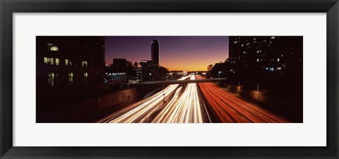 Framed Traffic on the road, City of Los Angeles, California, USA Print