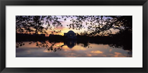 Framed Memorial at the waterfront, Jefferson Memorial, Tidal Basin, Potomac River, Washington DC Print