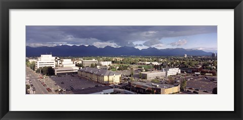 Framed Dark Skies Over Anchorage, Alaska Print