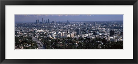 Framed Hollywood, City Of Los Angeles, California Print