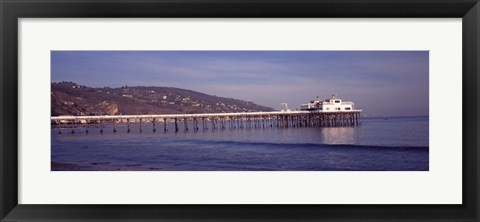 Framed Pier over an ocean, Malibu Pier, Malibu, Los Angeles County, California, USA Print
