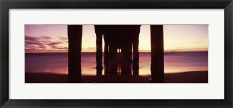 Framed View from Under Manhattan Beach Pier, California Print