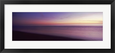Framed Ocean at sunset, Los Angeles County, California, USA Print
