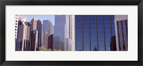 Framed Close up of skyscrapers in Los Angeles, Los Angeles County, California, USA Print