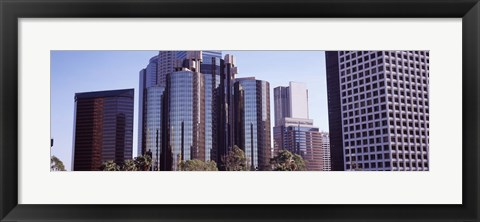 Framed Reflections in Los Angeles skyscrapers, Los Angeles County, California, USA Print