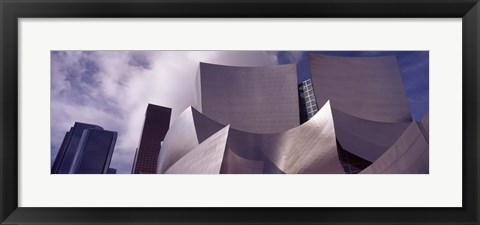Framed Low angle view of Walt Disney Concert Hall, Los Angeles Print