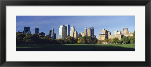 Framed Skyscrapers in a city, Central Park, Manhattan, New York City, New York State, USA 2010 Print