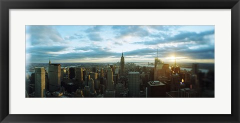 Framed Buildings in a city, Empire State Building, Manhattan, New York City, New York State, USA 2011 Print