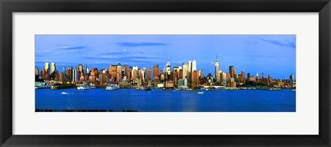 Framed Manhattan skyline, New York City, New York State, USA Print