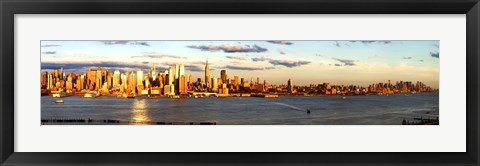 Framed View of Manhattan from New Jersey Print