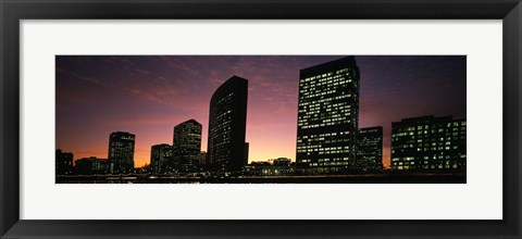 Framed Buildings at the waterfront, Oakland, Alameda County, California, USA Print
