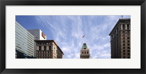 Framed Buildings in a city, Tribune Tower, Oakland, Alameda County, California, USA Print