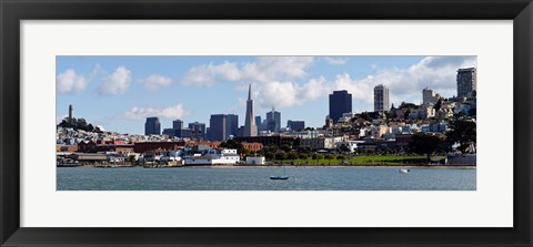 Framed City at the waterfront, Coit Tower, Telegraph Hill, San Francisco, California Print