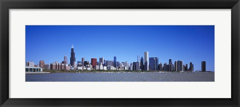 Framed Skyscrapers at the waterfront, Willis Tower, Shedd Aquarium, Chicago, Cook County, Illinois, USA 2011 Print