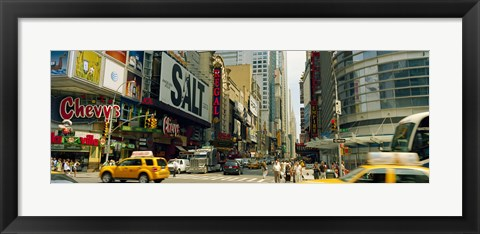 Framed 42nd Street, Eighth Avenue, Times Square, Manhattan, New York Print