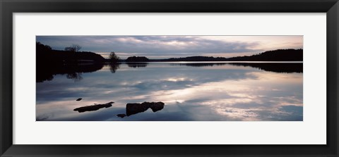Framed Reflection of clouds in a lake, Loch Raven Reservoir, Lutherville-Timonium, Baltimore County, Maryland Print