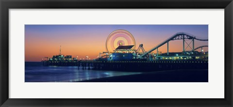 Framed Ferris wheel on the pier, Santa Monica Pier, Santa Monica, Los Angeles County, California, USA Print