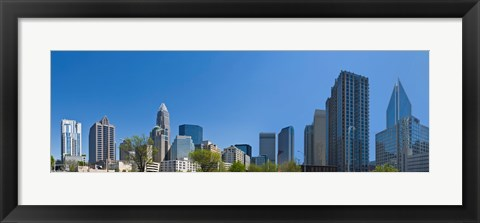 Framed Skyscrapers in Charlotte, North Carolina Print