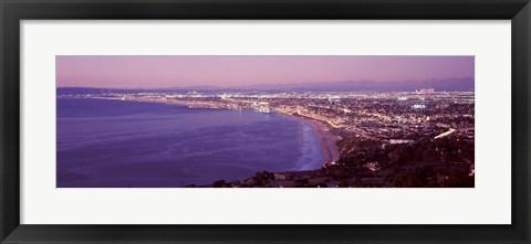 Framed View of Los Angeles downtown, California, USA Print