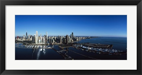 Framed Skyscrapers in a city, Willis Tower, Chicago, Cook County, Illinois Print