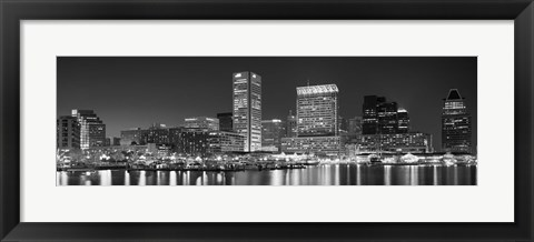 Framed City at the waterfront, Baltimore, Maryland, USA Print