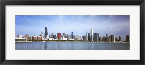 Framed Skyscrapers at the waterfront, Chicago, Cook County, Illinois, USA 2011 Print
