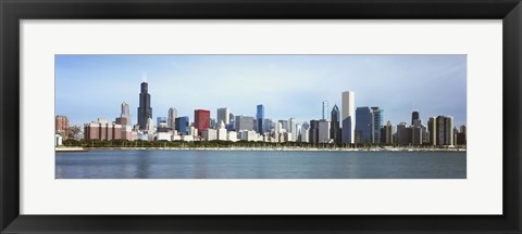 Framed Skyscrapers at the waterfront, Lake Michigan, Chicago, Cook County, Illinois, USA 2011 Print