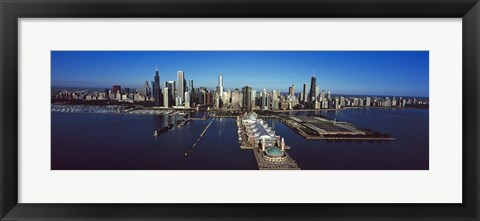 Framed Pier on a lake, Navy Pier, Chicago, Cook County, Illinois, USA 2011 Print