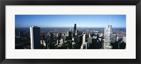 Framed Skyscrapers in a city, Trump Tower, Chicago, Cook County, Illinois, USA 2011 Print