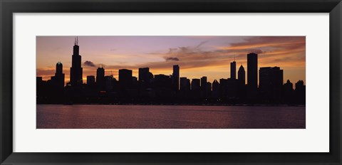 Framed Buildings on the Lake Michigan Waterfront, Chicago, Illinois, USA 2011 Print