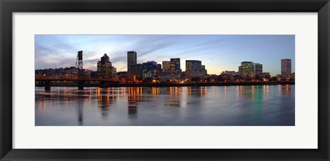 Framed Buildings at the waterfront, Portland, Multnomah County, Oregon Print