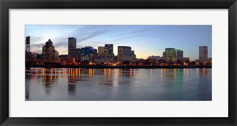 Framed Buildings at the waterfront, Portland, Multnomah County, Oregon, USA Print
