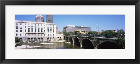 Framed Arch bridge across the Genesee River, Rochester, Monroe County, New York State, USA Print