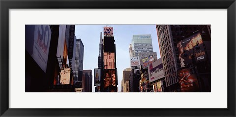 Framed Low angle view of buildings, Times Square, Manhattan, New York City, New York State, USA 2011 Print