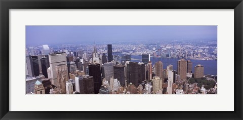 Framed High angle view of buildings in Manhattan, New York City Print