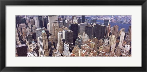 Framed Aerial view of midtown Manhattan, New York City, New York State, USA Print