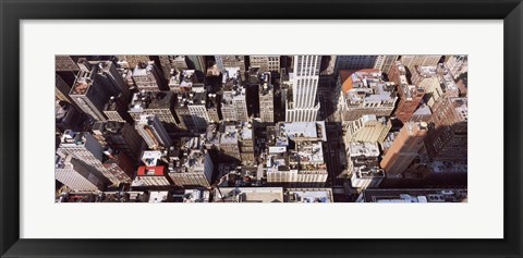 Framed Skyscraper roof tops, Manhattan, New York City, New York State, USA Print