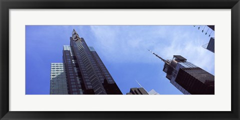 Framed Low angle view of skyscrapers in a city, New York City, New York State, USA 2011 Print
