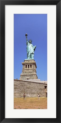 Framed Statue Of Liberty (vertical), Liberty Island, New York City, New York State Print