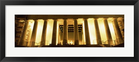 Framed Columns surrounding a memorial, Lincoln Memorial, Washington DC, USA Print